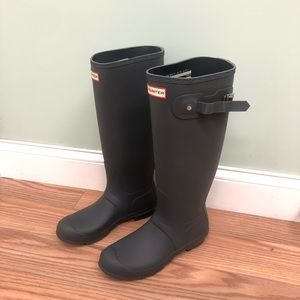 Hunter Rain Boots: Tall | Grey (PM489)